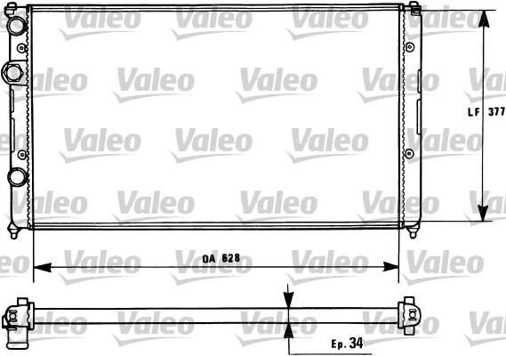 Radiateur, refroidissement du moteur - VALEO - 731267