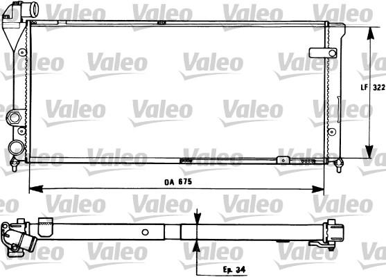 Radiateur, refroidissement du moteur - VALEO - 731270