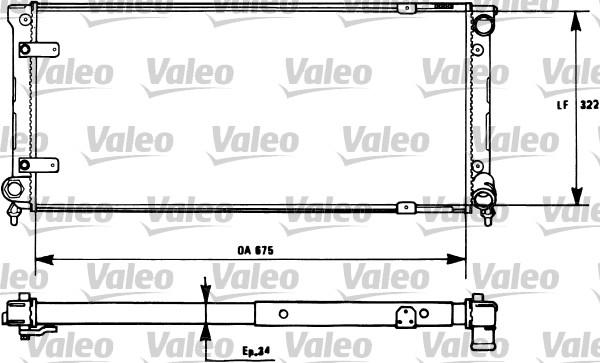 Radiateur, refroidissement du moteur - VALEO - 731271