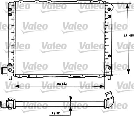 Radiateur, refroidissement du moteur - VALEO - 731276