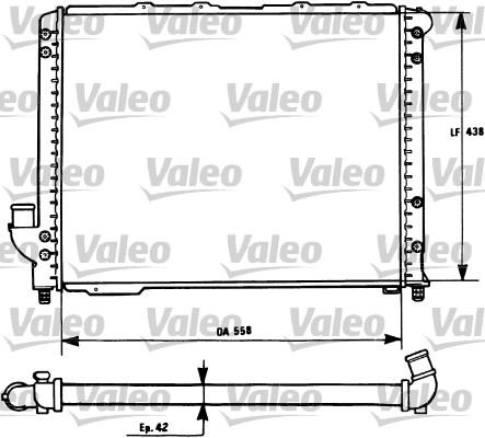Radiateur, refroidissement du moteur - VALEO - 731278