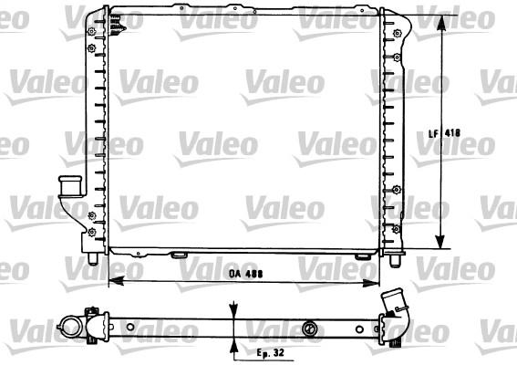 Radiateur, refroidissement du moteur - VALEO - 731281