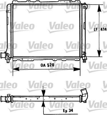 Radiateur, refroidissement du moteur - VALEO - 731282