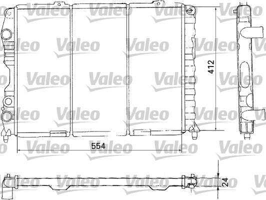 Radiateur, refroidissement du moteur - VALEO - 731283