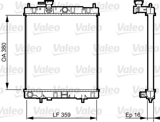 Radiateur, refroidissement du moteur - VALEO - 731287