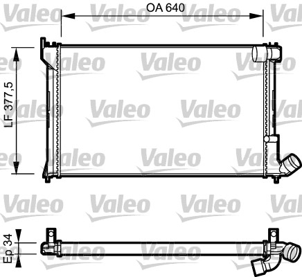 Radiateur, refroidissement du moteur - VALEO - 731289