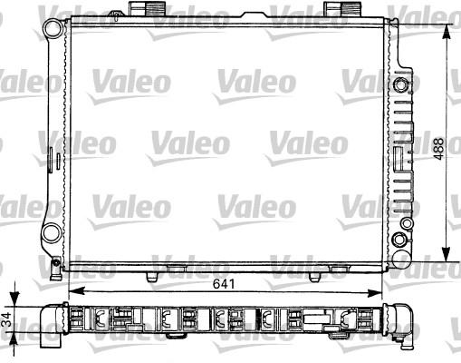 Radiateur, refroidissement du moteur - VALEO - 731292