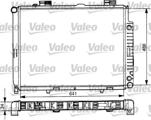 Radiateur, refroidissement du moteur - VALEO - 731294