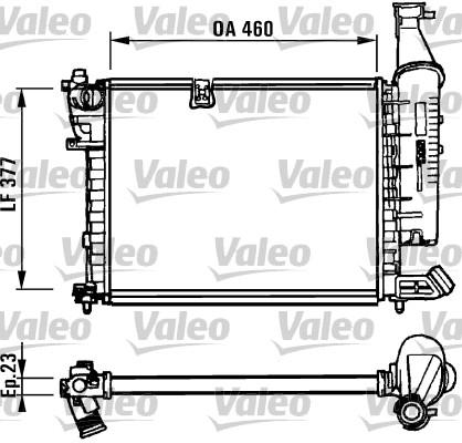 Radiateur, refroidissement du moteur - VALEO - 731295