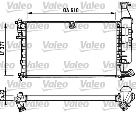 Radiateur, refroidissement du moteur - VALEO - 731296