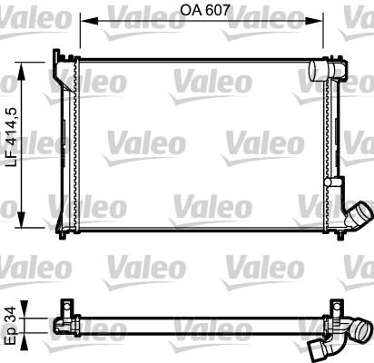 Radiateur, refroidissement du moteur - VALEO - 731297