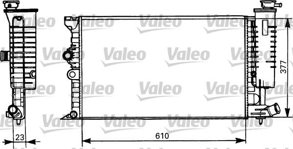 Radiateur, refroidissement du moteur - VALEO - 731298