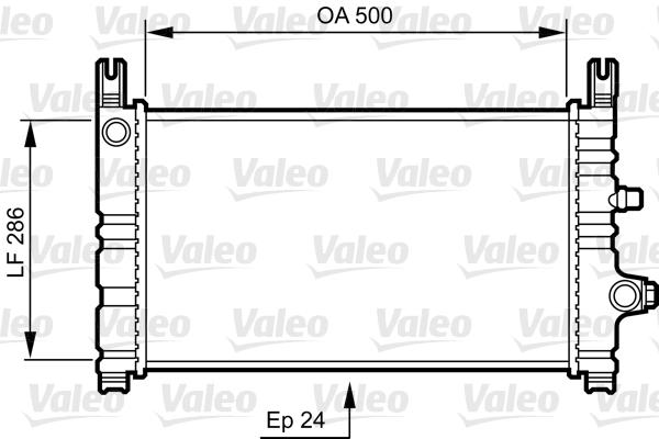 Radiateur, refroidissement du moteur - VALEO - 731299
