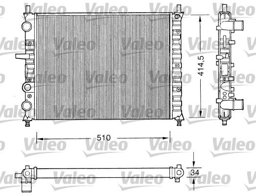 Radiateur, refroidissement du moteur - VALEO - 731303
