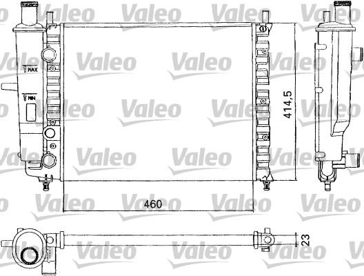 Radiateur, refroidissement du moteur - VALEO - 731304