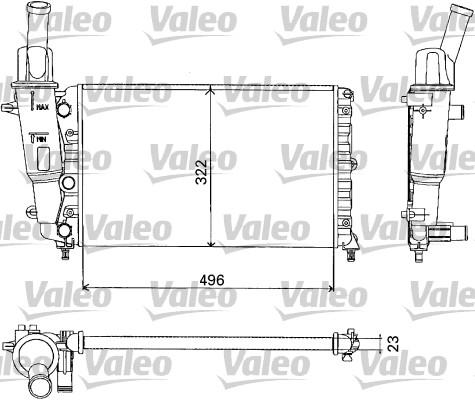 Radiateur, refroidissement du moteur - VALEO - 731375