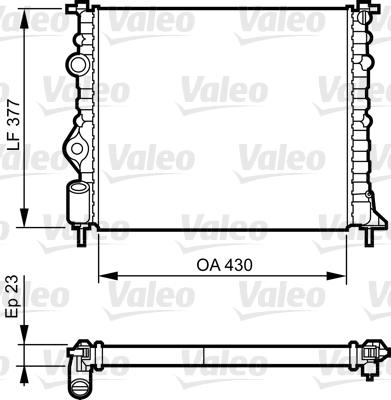 Radiateur, refroidissement du moteur - VALEO - 731378