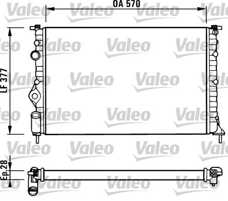 Radiateur, refroidissement du moteur - VALEO - 731379
