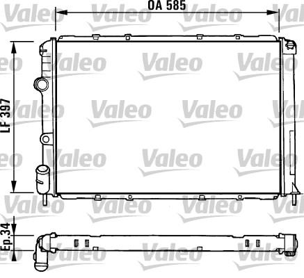 Radiateur, refroidissement du moteur - VALEO - 731380