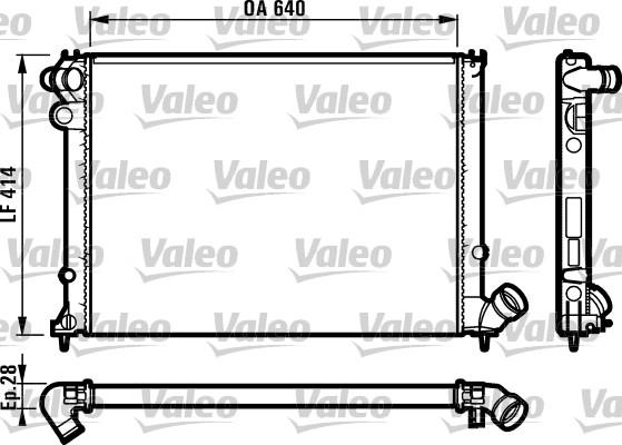 Radiateur, refroidissement du moteur - VALEO - 731381