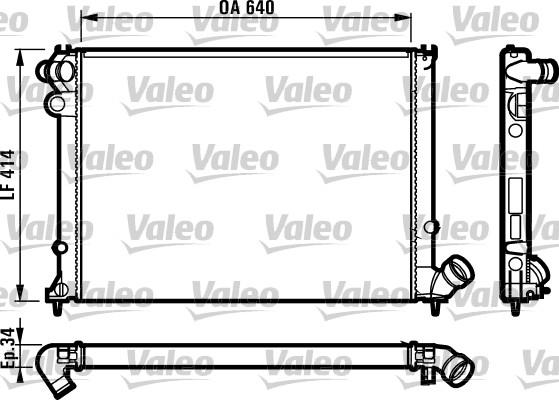 Radiateur, refroidissement du moteur - VALEO - 731382