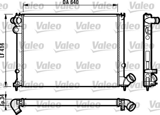 Radiateur, refroidissement du moteur - VALEO - 731384