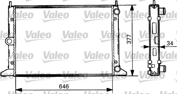 Radiateur, refroidissement du moteur - VALEO - 731386