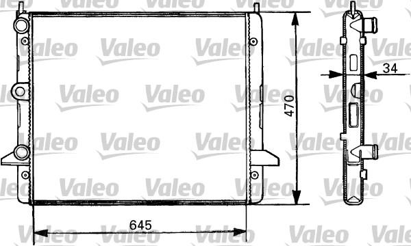 Radiateur, refroidissement du moteur - VALEO - 731387