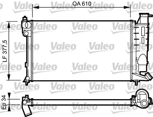 Radiateur, refroidissement du moteur - VALEO - 731389