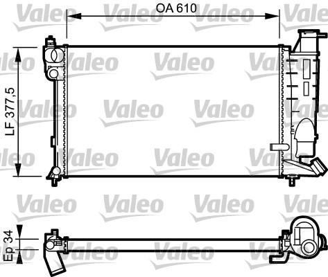 Radiateur, refroidissement du moteur - VALEO - 731391