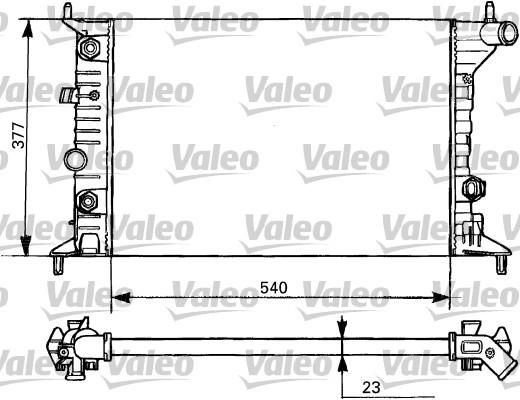 Radiateur, refroidissement du moteur - VALEO - 731393