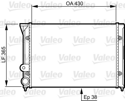 Radiateur, refroidissement du moteur - VALEO - 731401