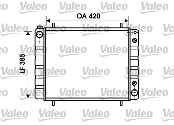 Radiateur, refroidissement du moteur - VALEO - 731406