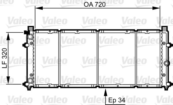 Radiateur, refroidissement du moteur - VALEO - 731411