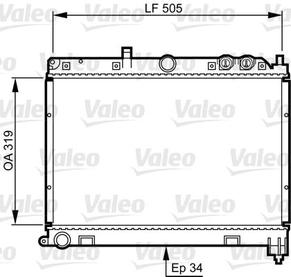 Radiateur, refroidissement du moteur - VALEO - 731412