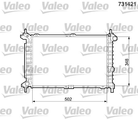 Radiateur, refroidissement du moteur - VALEO - 731421