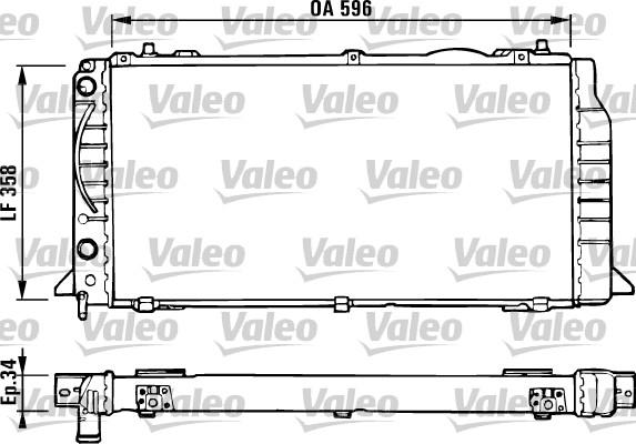 Radiateur, refroidissement du moteur - VALEO - 731422