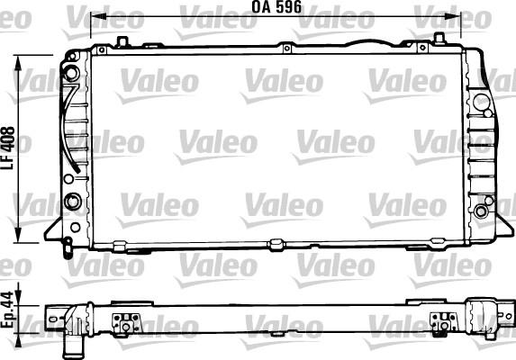 Radiateur, refroidissement du moteur - VALEO - 731428