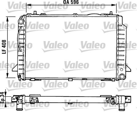 Radiateur, refroidissement du moteur - VALEO - 731429