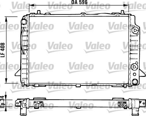Radiateur, refroidissement du moteur - VALEO - 731430