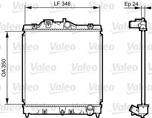Radiateur, refroidissement du moteur - VALEO - 731434