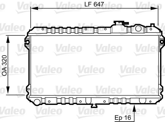 Radiateur, refroidissement du moteur - VALEO - 731437