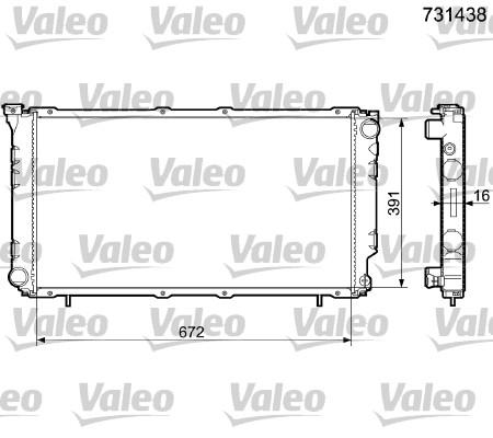 Radiateur, refroidissement du moteur - VALEO - 731438