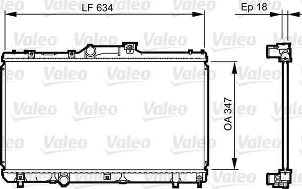 Radiateur, refroidissement du moteur - VALEO - 731441