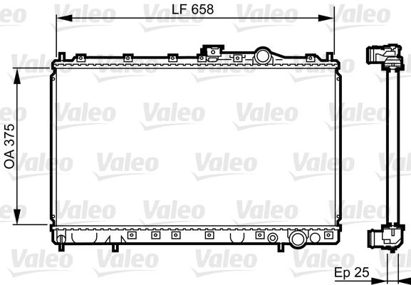 Radiateur, refroidissement du moteur - VALEO - 731451