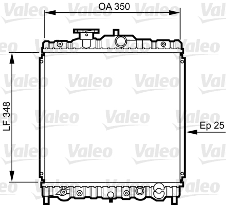 Radiateur, refroidissement du moteur - VALEO - 731459