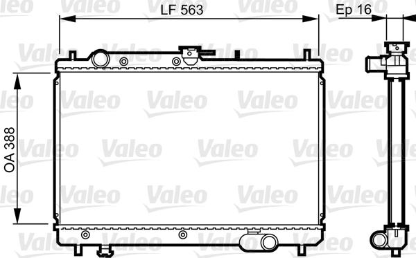 Radiateur, refroidissement du moteur - VALEO - 731461