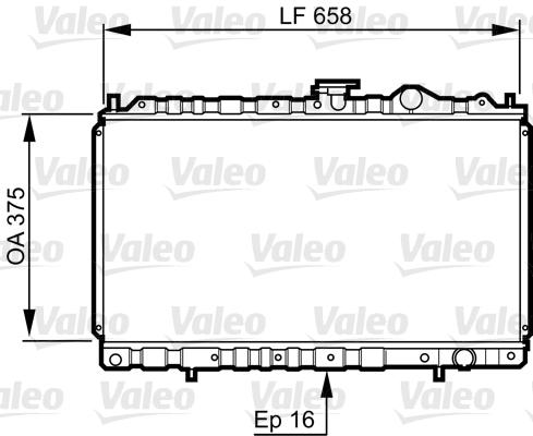 Radiateur, refroidissement du moteur - VALEO - 731462