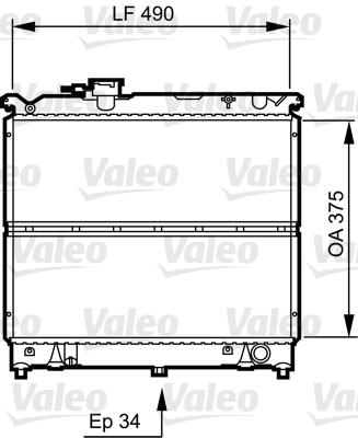 Radiateur, refroidissement du moteur - VALEO - 731463