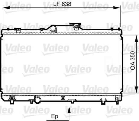 Radiateur, refroidissement du moteur - VALEO - 731464